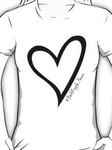 #BeARipple...PEACE Black Heart on White T-Shirt
