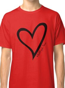 #BeARipple...PEACE Black Heart on Red Classic T-Shirt