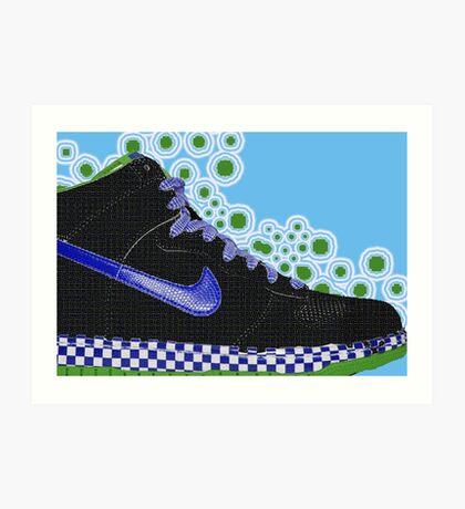 footwear blue Art Print