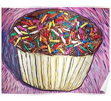 """Chocolate Cupcakes With Sprinkles"" Poster"