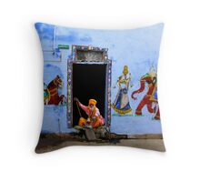 SADHU - RAJASTHAN Throw Pillow
