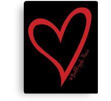 #BeARipple...PEACE Red Heart on Black Canvas Print