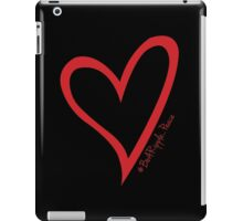 #BeARipple...PEACE Red Heart on Black iPad Case/Skin