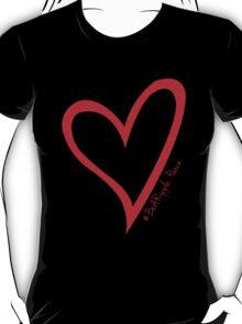#BeARipple...PEACE Red Heart on Black T-Shirt