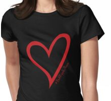 #BeARipple...PEACE Red Heart on Black Womens Fitted T-Shirt