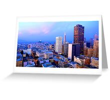 San Francisco Cityscape at Dusk Greeting Card