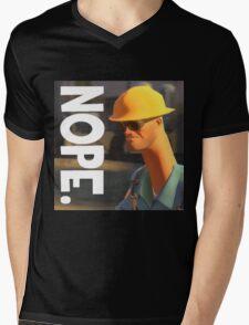TF2 nope! Engineer, funny. Mens V-Neck T-Shirt
