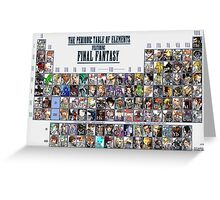 Final Fantasy Periodic table, Chart (all character) Greeting Card