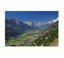 Rhone Valley, Switzerland Art Print