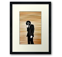 Vinyl Head Framed Print