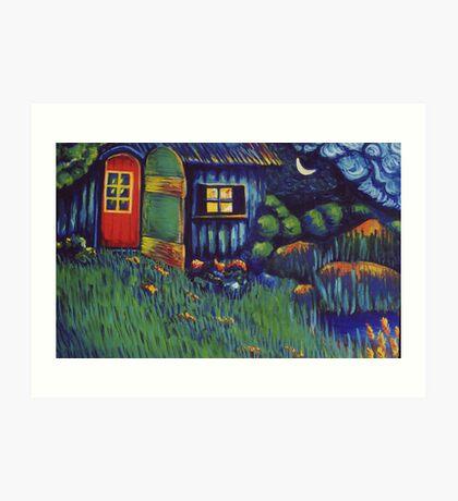 Enchanted Hut Art Print
