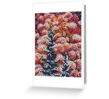 Harmony Between Fall and Winter Greeting Card