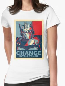 Optimus Prime - Change Womens Fitted T-Shirt
