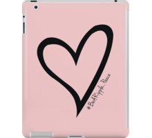 #BeARipple...PEACE Black Heart on Pink iPad Case/Skin