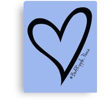 #BeARipple...PEACE Black Heart on Lavender Canvas Print