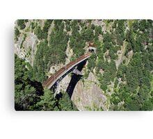 high above a bridge Canvas Print