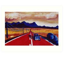Red Road Art Print