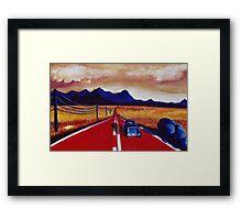 Red Road Framed Print