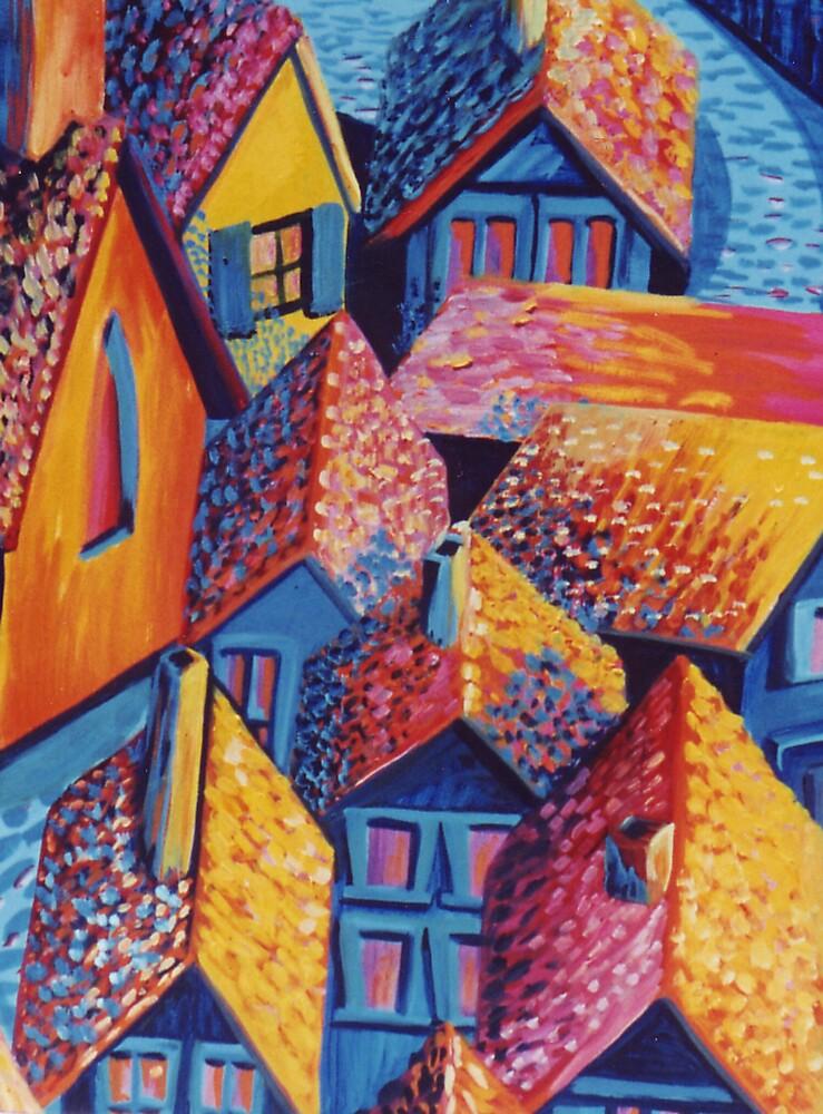 Roof Top Quilt by Jill Mattson