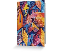 Roof Top Quilt Greeting Card