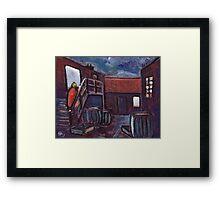 Nancy's yard Framed Print