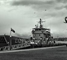 HMAS Labuan by Karen Eaton