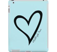 #BeARipple...PEACE Black Heart on Blue iPad Case/Skin