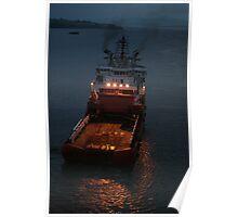 Suvarna, anchor handling vessel. Poster