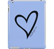 #BeARipple...LOVE Black Heart on Lavender iPad Case/Skin