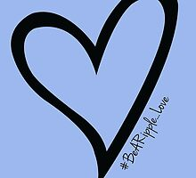 #BeARipple...LOVE Black Heart on Lavender by BeARipple