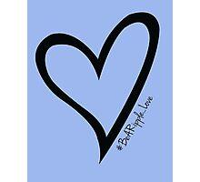 #BeARipple...LOVE Black Heart on Lavender Photographic Print