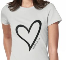 #BeARipple...LOVE Black Heart on Lavender Womens Fitted T-Shirt