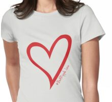 #BeARipple...LOVE Red Heart on Lavender Womens Fitted T-Shirt