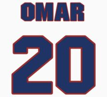 National baseball player Omar Infante jersey 20 by imsport