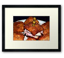 Bagel Bread Mini Bites Framed Print