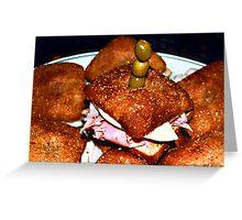 Bagel Bread Mini Bites Greeting Card