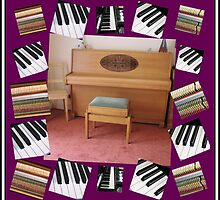 An Invitation To Play - Piano Keys Collage by BlueMoonRose