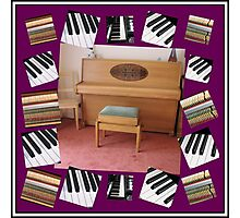 An Invitation To Play - Piano Keys Collage Photographic Print