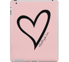 #BeARipple...LOVE Black Heart on Pink iPad Case/Skin