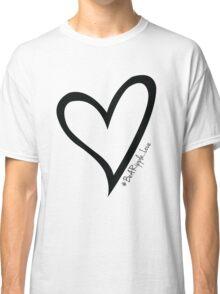 #BeARipple...LOVE Black Heart on Pink Classic T-Shirt
