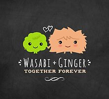 Wasabi and Ginger Together Forever by Jenn Inashvili