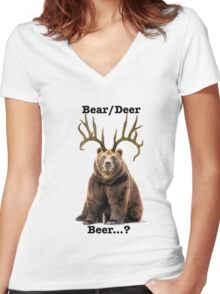 Beer? 2 Women's Fitted V-Neck T-Shirt