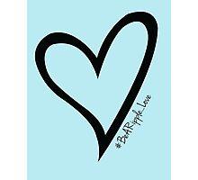#BeARipple...LOVE Black Heart on Blue Photographic Print