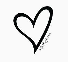 #BeARipple...LOVE Black Heart on White T-Shirt