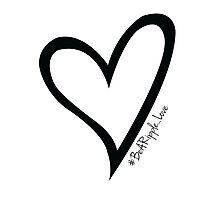 #BeARipple...LOVE Black Heart on White Photographic Print
