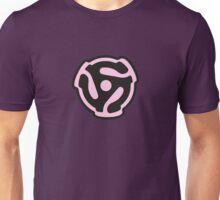 45 R.P.M. Record Adaptor Pink Unisex T-Shirt