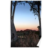 WA Bush Sunset, Kununurra Poster