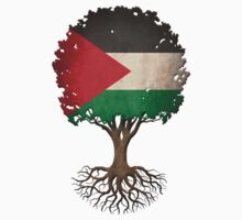 Tree of Life with Palestinian Flag Baby Tee
