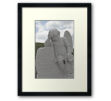 Tombstone for a little Angel Framed Print