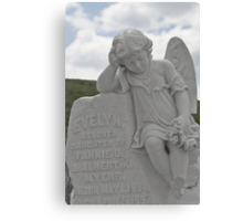 Tombstone for a little Angel Canvas Print